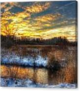 Snowy Dawn At South Ore Creek Canvas Print