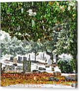 Snowy Day At The Cemetery - Greensboro North Carolina Canvas Print