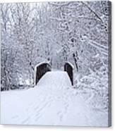 Snowy Day Bridge Canvas Print