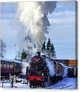 Snowy Day Departure Canvas Print