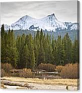 Snowy Fall In Yosemite Canvas Print