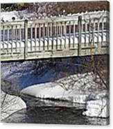 Snowy Foot Bridge Canvas Print