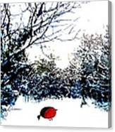 Snowy Forest At Christmas Time Canvas Print