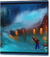 Snowy Fun Canvas Print