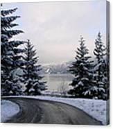 Snowy Gorge Canvas Print