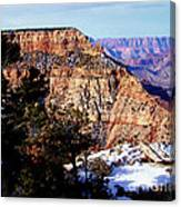 Snowy Grand Canyon Vista Canvas Print