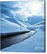 Snowy Highway Canvas Print