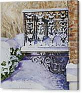 Snowy Ironwork Canvas Print