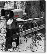 Snowy Mailbox Sc Canvas Print