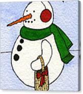 Snowy Man Canvas Print
