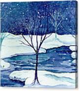 Snowy Moment Canvas Print