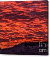 Snowy Mountain Sunset Canvas Print