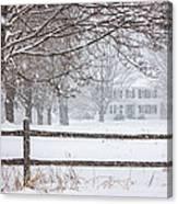 Snowy New England Canvas Print