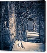 Snowy Ruins At Night Canvas Print