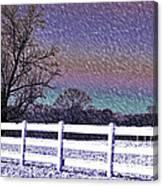 Snowy Snowy Night  Canvas Print