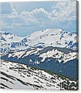 Snowy Terrain Near Top Of Trail Ridge Road In Rocky Mountain Np-co   Canvas Print