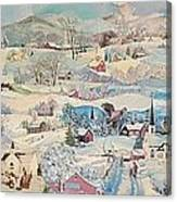 Snowy Village - Sold Canvas Print
