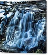 Snowy Waterfall Canvas Print