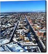 Snowy West Side Winter 2013 Canvas Print