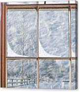 Snowy Window Canvas Print