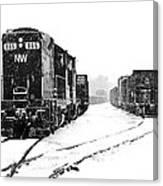 Snowy Yard Canvas Print