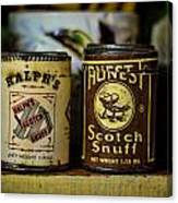 Snuff Tins Canvas Print