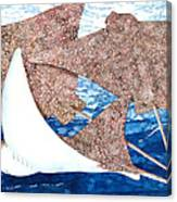 Soaring Eagle Rays Canvas Print
