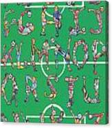 Soccer Alphabet Canvas Print