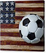 Soccer Ball And Stars And Stripes Canvas Print