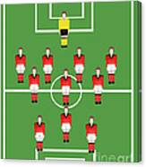 Soccer Team Football Players Canvas Print