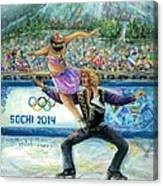 Sochi 2014 - Ice Dancing Canvas Print
