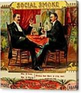 Social Smoke Vintage Cigar Advertisement Canvas Print