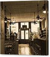 Soda Fountain And General Store Canvas Print