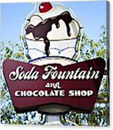 Soda Fountain Canvas Print