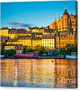 Sodermalm Skyline Canvas Print
