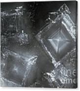 Sodium Hydroxide Crystals Canvas Print