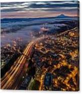 Sodo Sunrise Seattle Morning Canvas Print