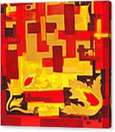 Soft Geometrics Abstract In Red And Yellow Impression I Canvas Print