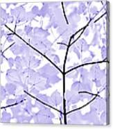 Soft Lavender Leaves Melody Canvas Print