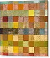 Soft Palette Rustic Wood Series Collage Lll Canvas Print