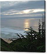 Soft Silvery Pacific Sunset Canvas Print