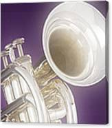 Soft Trumpet On Purple Canvas Print