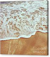 Soft Wave Of The Sea On The Sandy Beach Canvas Print