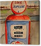 Sohio Gasoline Pump Canvas Print