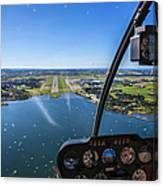 Sola And Sola Airport, Aerial Shot Canvas Print