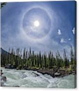Solar Halo Over Natural Bridge, Yoho V1 Canvas Print