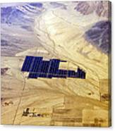 Solar Panels Aerial View Canvas Print