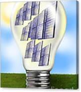 Solar Power Lightbulb Canvas Print