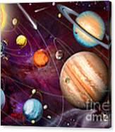 Solar System 2 Canvas Print