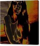 Solarised Nude 4 Canvas Print